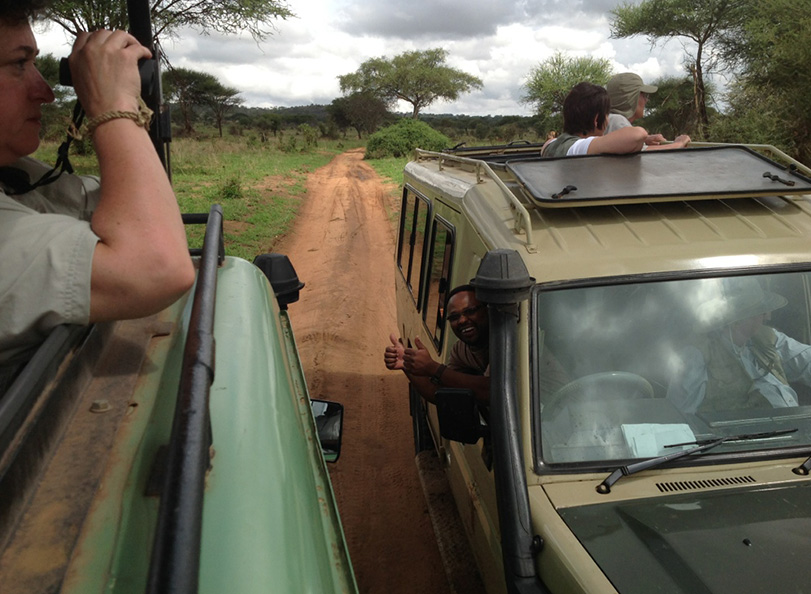 Penwell Safari guides on a game drive in Tanzania
