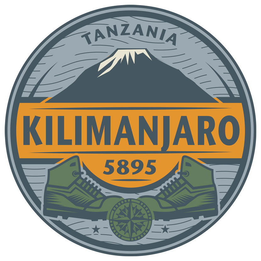 Emblem with Mount Kilimanjaro Tanzania