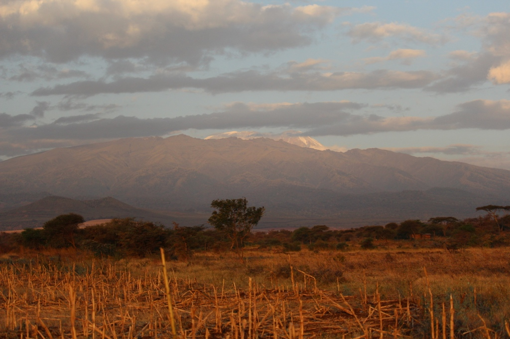 Mount Kilimanjaro in the distance of Ngorongoro crater