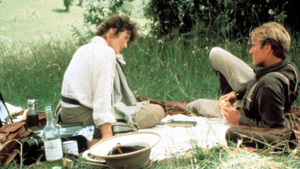 Famous still image from the movie Out of Africa