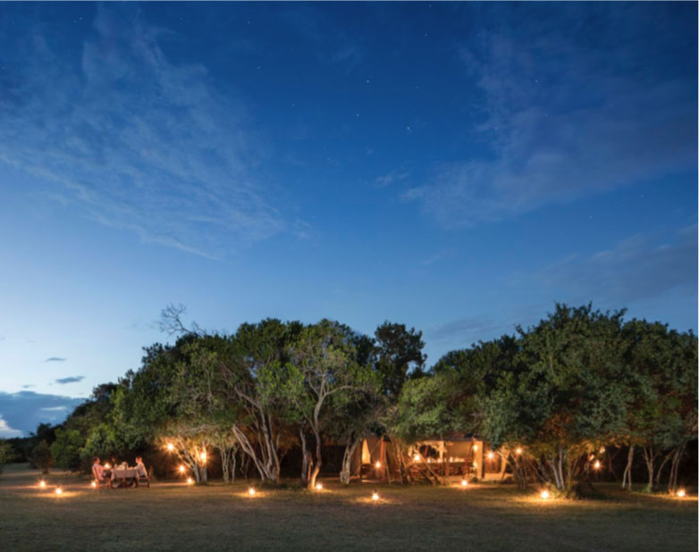 Encounter Mara camp at night
