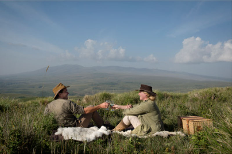 Picnic near Ngorongoro Crater