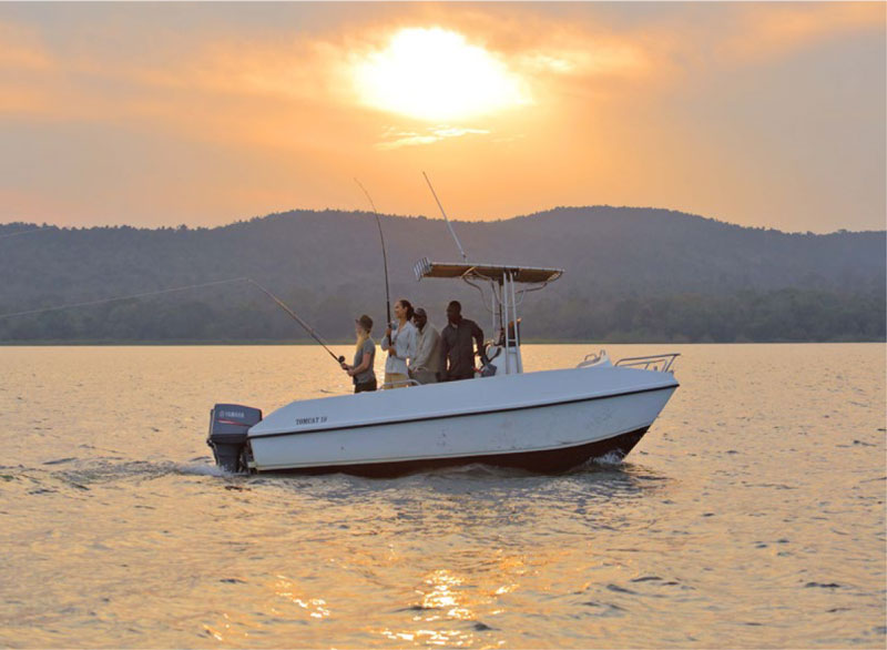 Boating on Lake Victoria