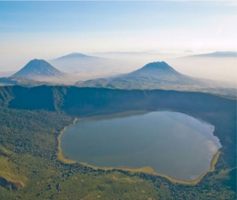 Aerial view of Ngorongoro Conservation Area