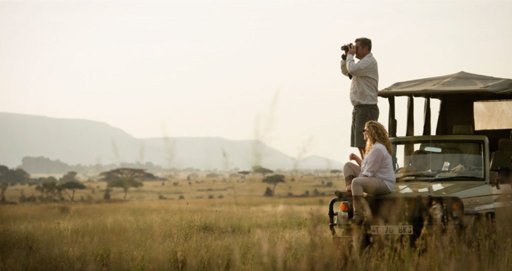 Sightseeing on a game drive at Serengeti National Park