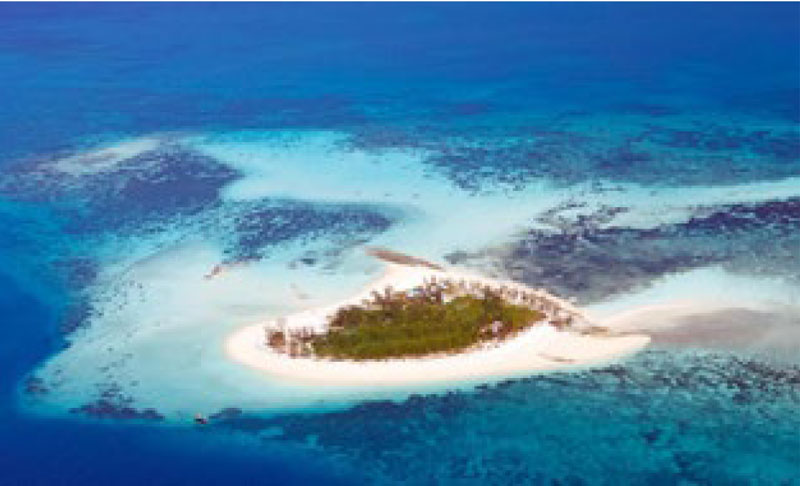 Aerial view of Thanda Private Island